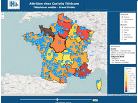 Outil de data visualisation d'HLi Lab - Attrition