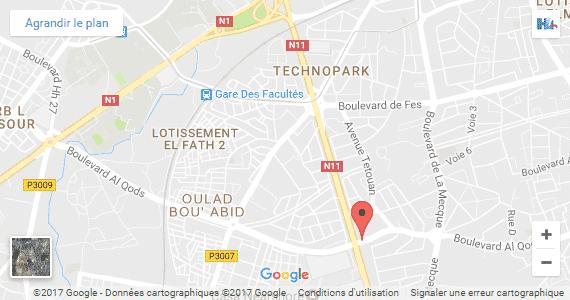 Carte localisation HLi Maroc