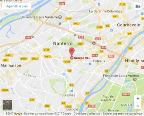 Carte localisation HLi Paris