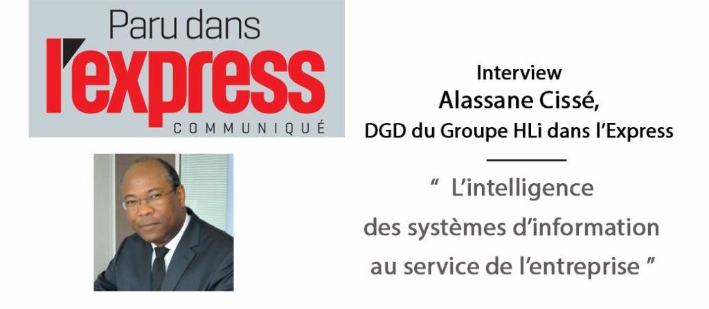 A la une, l'interview d'Alassane Cisse dans le magazine l'Express
