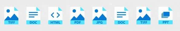 Les formats reconnus par les outils d'IA d'Azure pour les transformer en données utilisables