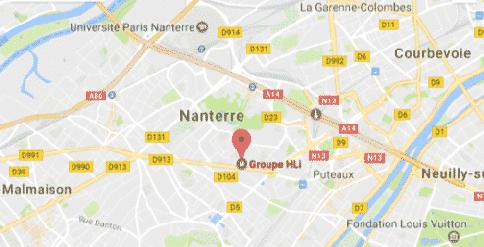 Venir chez le Groupe HLi à Nanterre